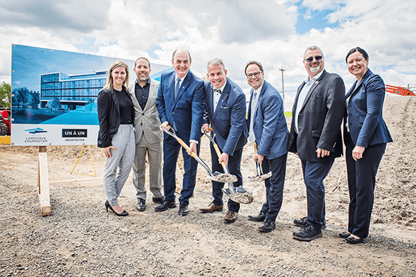 UL Mutual Formalizes the Construction of  the New Head Office in Drummondville